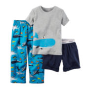 Carter's® Whale 3-pc. Pajama Set - Baby Boys 12m-24m