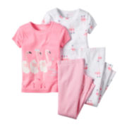 Carter's® Flamingo 4-pc. Pajama Set - Baby Girls newborn-24m