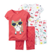 Carter's® 4-pc. Dog Pajama Set - Baby Girls newborn-24m