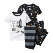 Carter's® Black Space 4-pc. Pajama Set - Toddler Boys 2t-5t
