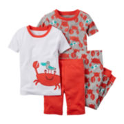 Carter's® 4-pc. Crab Pajama Set - Baby Boys newborn-24m