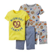 Carter's® 4-pc. Snacker Pajama Set - Baby Boys newborn-24m