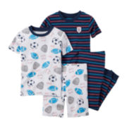 Carter's® 4-pc. Sports Pajama Set - Toddler Boys 2t-5t
