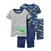 Carter's® Gator 4-pc. Pajama Set - Toddler Boys 2t-5t