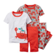 Carter's® Crab 4-pc. Pajama Set - Toddler Boys 2t-5t