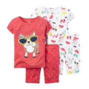 Carter's® Dog 4-pc. Pajama Set - Baby Girls newborn-24m