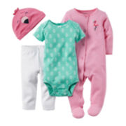 Carter's® Flamingo 4-pc. Set – Baby Girl newborn-24m