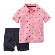 Carter's® Polo and Shorts Set - Baby Boy newborn-24m