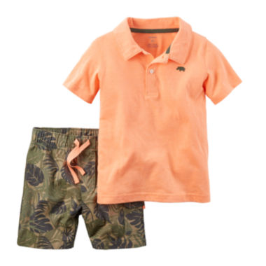jcpenney.com | Carter's® 2-pc. Polo and Shorts Set - Baby Boys newborn-24m