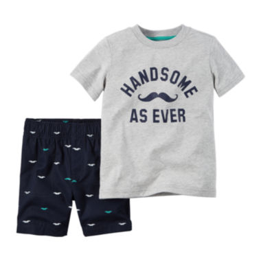 jcpenney.com | Carter's® 2-pc. Short-Sleeve Tee and Shorts Set - Baby Boys newborn-24m