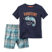 Carter's® Graphic Tee and Shorts Set - Baby Boys newborn-24m