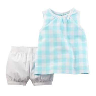 jcpenney.com | Carter's® Plaid Gingham Top and Shorts Set - Baby Girls newborn-24m