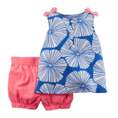 jcpenney.com | Carter's® Top and Shorts Set - Baby Girls newborn-24m