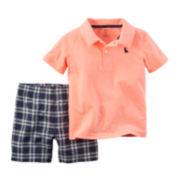 Carter's® Plaid Top and Shorts Set - Toddler Boys 2t-5t