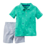 Carter's® Polo and Shorts Set - Toddler Boys 2t-5t