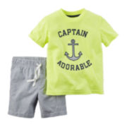 Carter's® 2-pc. Tee and Shorts Set -Toddler Boys 2t-5t