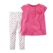 Carter's® Cap-Sleeve Top and Leggings Set - Toddler Girls 2t-5t
