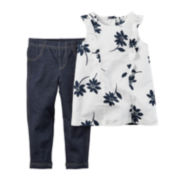 Carter's® Print Top and Jeggings Set - Toddler Girls 2t-5t