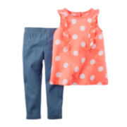 Carter's® 2-pc. Flutter-Sleeve and Jeggings Set - Toddler Girls 2t-5t