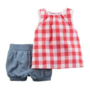 Carter's® Sleeveless Top and Plaid Shorts Set - Toddler Girls 2t-5t