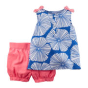 Carter's® Sleeveless Top and Shorts Set - Toddler Girls 2t-5t