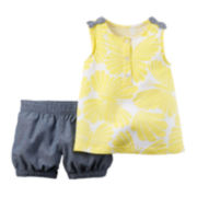 Carter's® Sleeveless Bow Top and Chambray Shorts Set - Toddler Girls 2t-5t