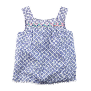 jcpenney.com | Carter's® Embroidered Blue Print Tank Top - Preschool Girls 4-7