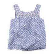 Carter's® Embroidered Blue Print Tank Top - Preschool Girls 4-7
