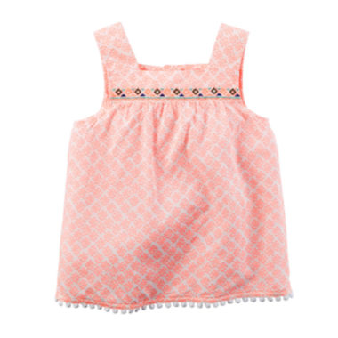 jcpenney.com | Carter's® Embroidered Orange Print Tank Top - Preschool Girls 4-7