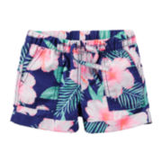 Carter's® Navy Floral Drawstring Shorts - Preschool Girls 4-7