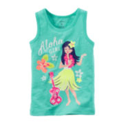 Carter's® Sleeveless Hula Graphic Tee - Preschool Girls 4-6x