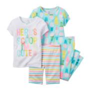 Carter's® 4-pc. Ice Cream Pajama Set - Baby Girls newborn-24m