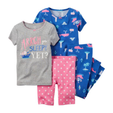jcpenney.com | Carter's® Blue 4-pc. Pajama Set – Baby Girl newborn-24m