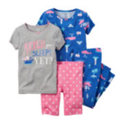 Carter's® Blue 4-pc. Pajama Set – Baby Girl newborn-24m