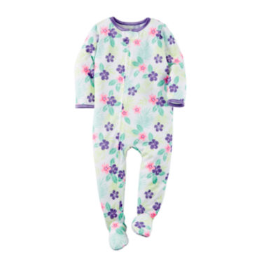 jcpenney.com | Carter's® Tropical Footed Pajamas - Baby Girls newborn-24m