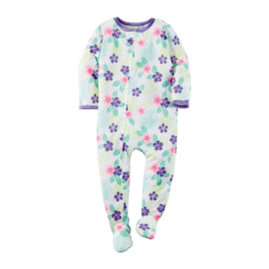 jcpenney.com | Carter's® Long-Sleeve Tropical Floral Sleeper - Toddler Girls 2t-5t