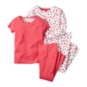 Carter's® Strawberry 4-pc. Pajama Set - Baby Girls newborn-24m
