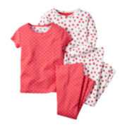 Carter's® 4-pc. Strawberry Pajama Set - Toddler Girls 2t-5t