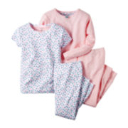 Carter's® 4-pc. Bird Pajama Set - Toddler Girls 2t-5t