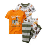 Carter's® Short-Sleeve 4-pc. Wild Pajama Set - Toddler Boys 2t-5t