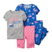 Carter's® 4-pc. Pirate Pajama Set - Toddler Girls 2t-5t