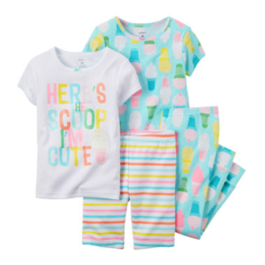 jcpenney.com | Carter's® 4-pc. Ice Cream Pajama Set - Toddler Girls 2t-5t