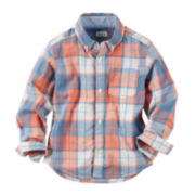 Carter's® Woven Plaid Top - Toddler Boys 2t-5t