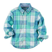 Carter's® Long-Sleeve Woven Plaid Top - Toddler Boys 2t-5t