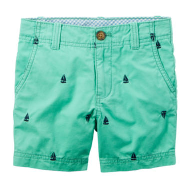 jcpenney.com | Carter's® Teal Print Twill Shorts - Toddler Boys 2t-5t