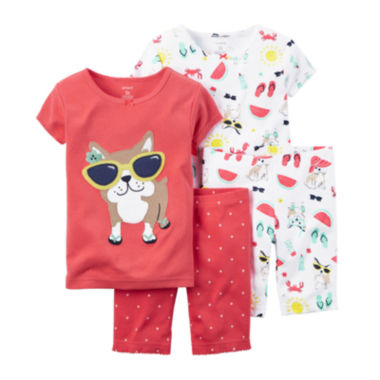 jcpenney.com | Carter's® 4-pc. Sunglasses Pajama Set - Preschool Girls 4-7
