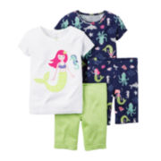 Carter's® 4-pc. Mermaid Pajama Set - Preschool Girls 4-7