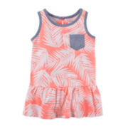 Carter's® Sleeveless Palm Peplum Top - Toddler Girls 2t-5t