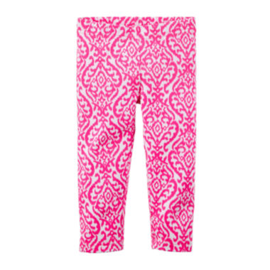 jcpenney.com | Carter's® Pink Printed Capri Leggings - Toddler Girls 2t-5t