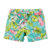 Carter's® Tropical Print Poplin Shorts - Preschool Girls 2t-5t